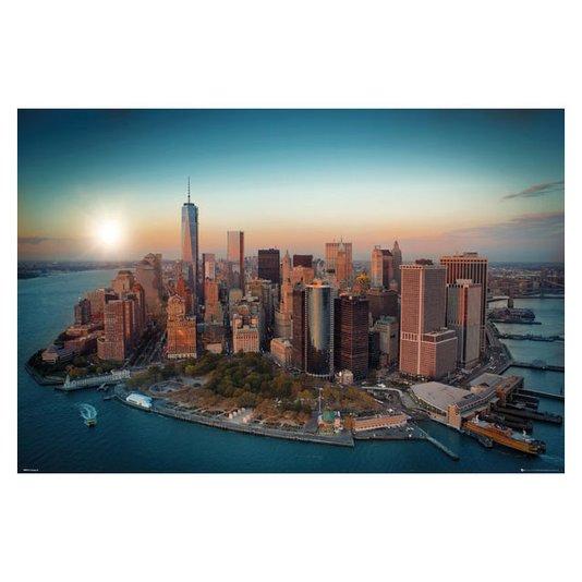 Gravura Poster para Quadros Paisagem New York Empire State 90x60cm