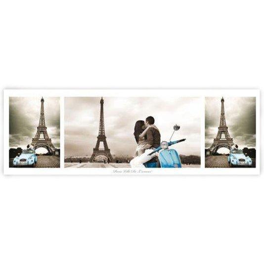 Gravura Poster para Quadros Paris Torre Eiffel 90x30cm