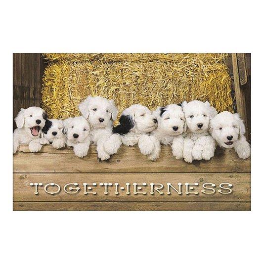 Gravura Poster para Quadros Pets Dogs Filhotes com Manchas Pretas 90x60cm