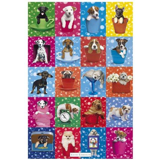 Gravura Poster para Quadros Pets Filhotes de Cachorros 60x90cm
