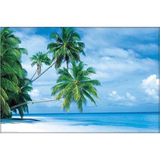 Gravura Poster para Quadros Praia Água Cristalina 90x60cm