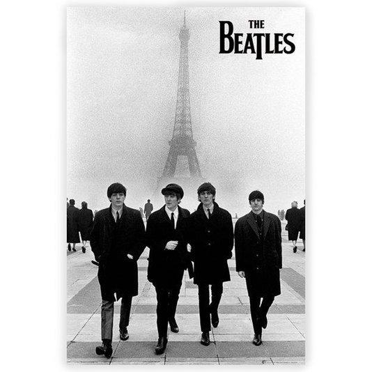 Gravura Poster para Quadros The Beatles em Paris 60x90cm