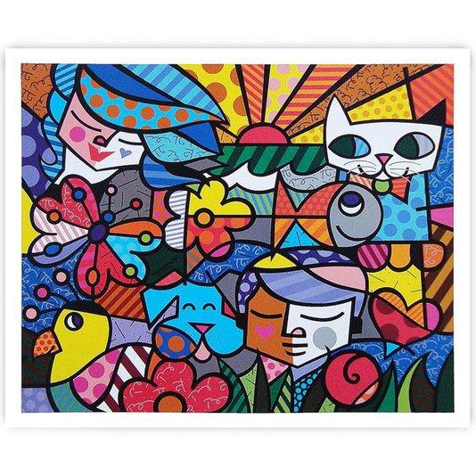 Gravura Romero Britto - Garden 34x29cm