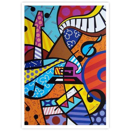 Gravura Romero Britto - Latin Grammy 46x61cm