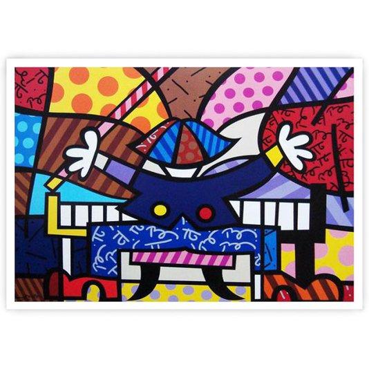 Gravura Romero Britto - Piano Man 71x54cm