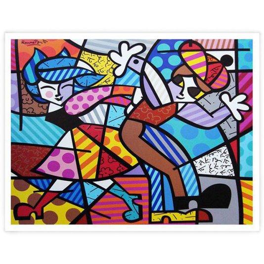 Gravura Romero Britto - Street Dance 72x63cm