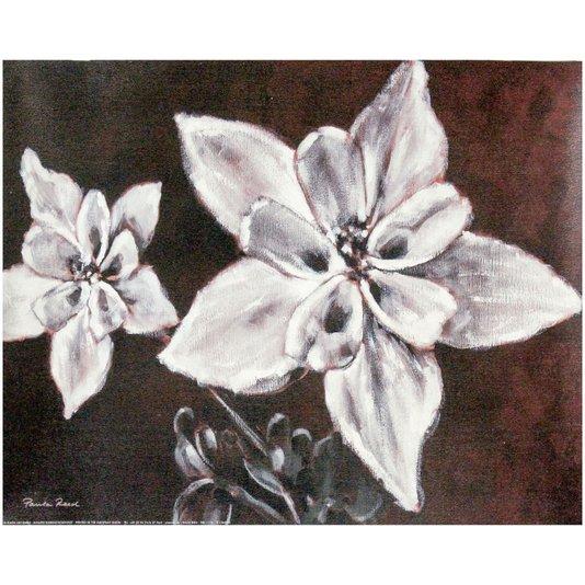 Gravura Texturizada para Quadros Floral Charme 50x40cm