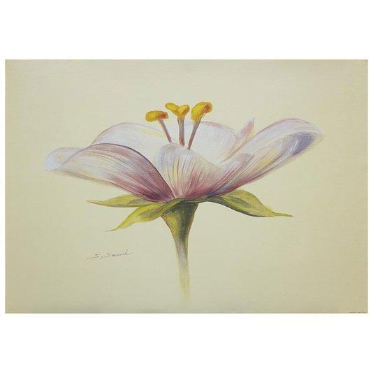 Gravura Texturizada para Quadros Floral Flor Lilas 70x50cm