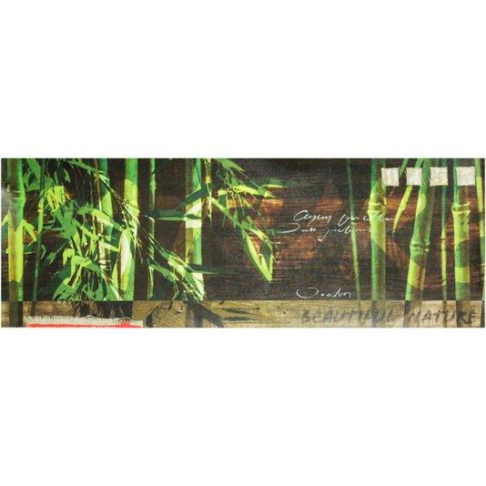 Gravura Texturizada para Quadros Natureza Bambo 100x35cm