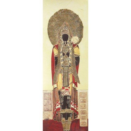 Gravura Texturizada para Quadros Rei Maya 25x70cm