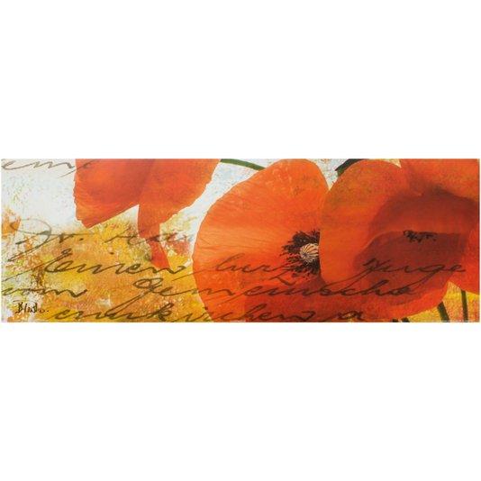 Gravuras para Quadros Flor Papoulas Vermelhas III - 90x30cm