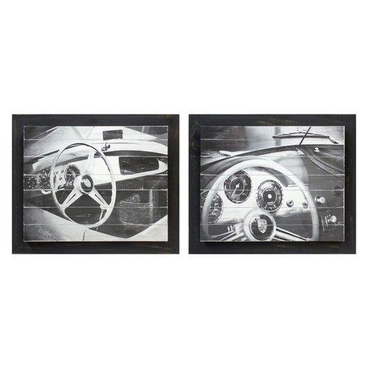 Kit de Quadros Decorativos Lamborghini Antigo Kit com 2 Quadros com Strass