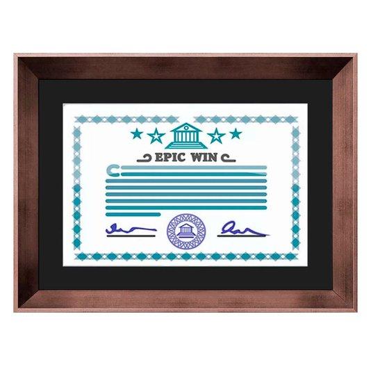 Moldura Bronze para Certificado Diploma 20x30cm Quadro com Vidro