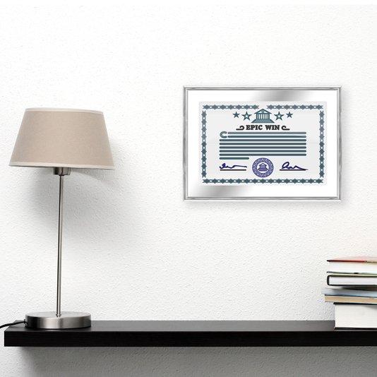 Moldura de Alumínio para Certificados e Diplomas 20x30cm