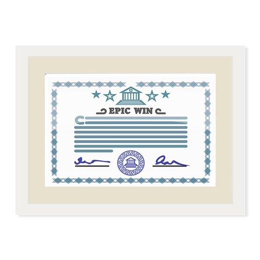 Moldura para Certificado Diploma 20x30cm Quadro Branco e Creme com Vidro