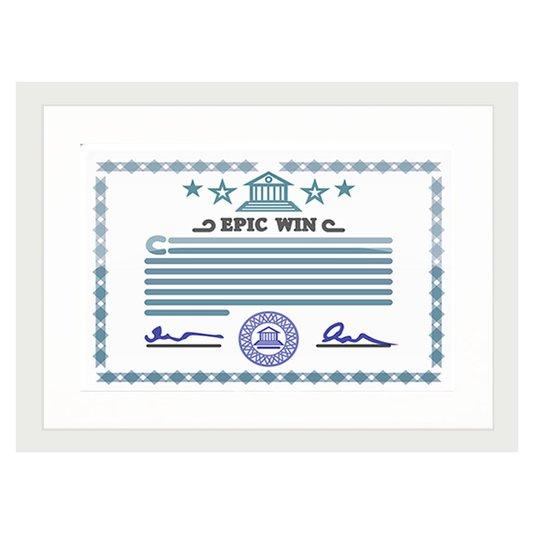 Moldura para Certificado Diploma 20x30cm Quadro com Moldura Branca com Vidro