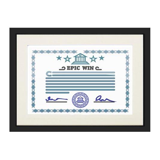 Moldura para Certificado Diploma 20x30cm Quadro Preto e Creme com Vidro