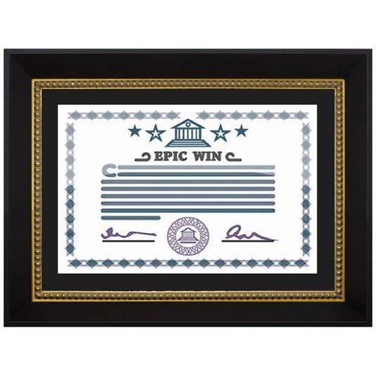 Moldura Preta e Dourada para Certificado Diploma A4 21x30cm Quadro com Vidro