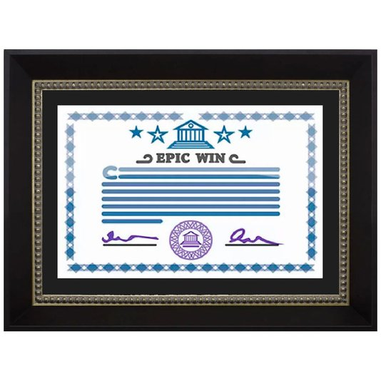 Moldura Preta e Prata para Certificado Diploma A4 21x30cm