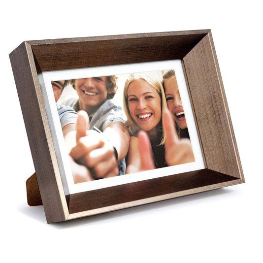 Porta Retrato Moldura Cor Bronze Chanfrada para 1 Foto 15x21cm
