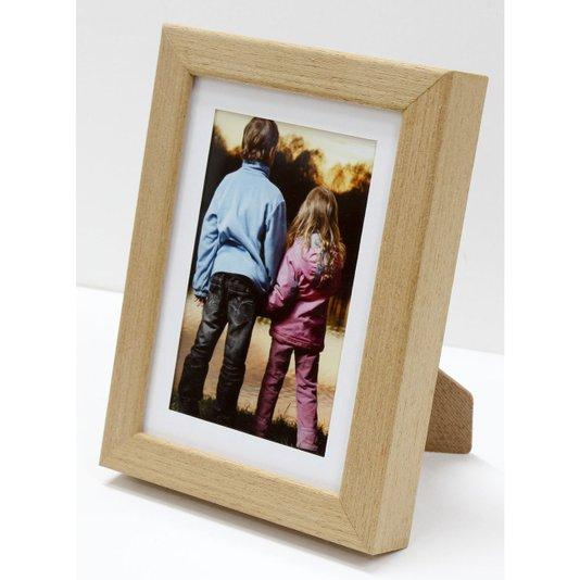 Porta Retrato Moldura Cor Carvalho para 1 Foto 10x15cm
