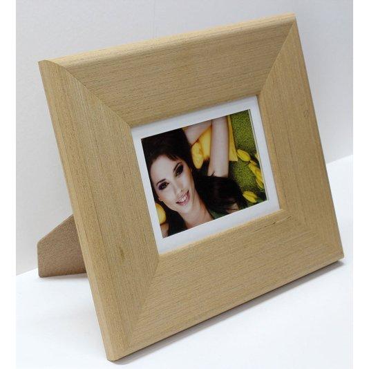 Porta Retrato Grande Moldura Cor Carvalho para Foto 10x15cm