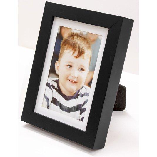 Porta Retrato para Foto 10x15cm com Moldura Preta e Branca