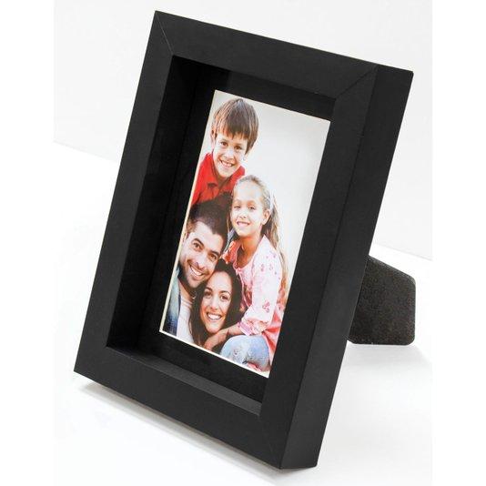 Porta Retrato com Moldura Cor Preta para 1 Foto 10x15cm