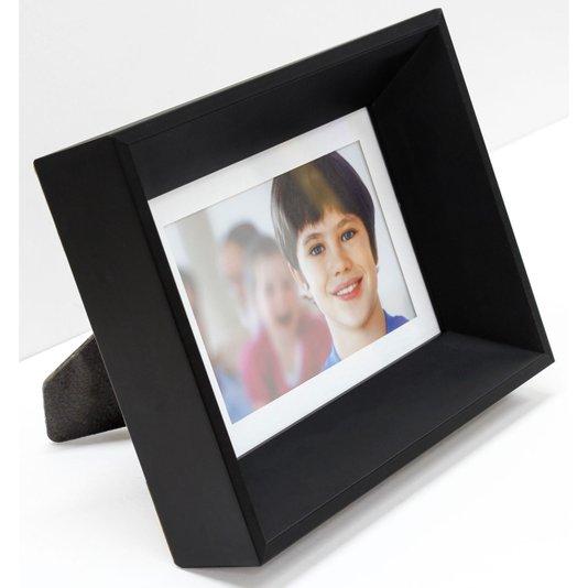 Porta Retrato Moldura Chanfrada Preta para 1 Foto 10x15cm