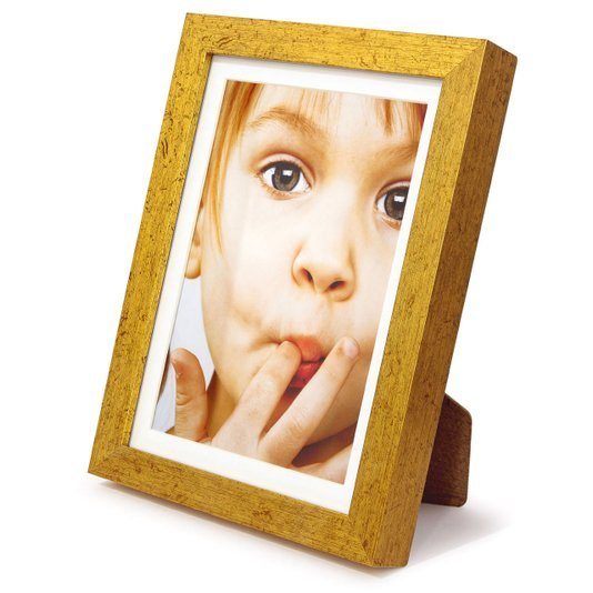 Porta Retrato para 1 Foto 15x21cm Moldura Dourada