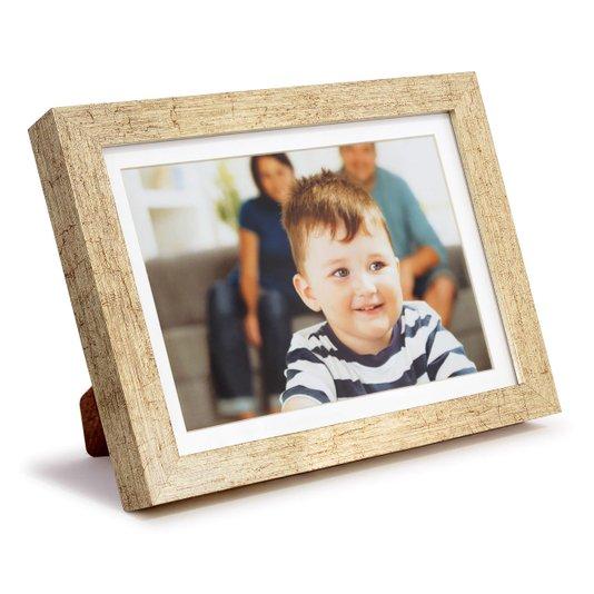 Porta Retrato para 1 Foto 15x21cm Moldura Prata Envelhecida