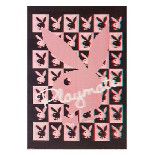 Poster 3D Coelhinha da Playboy - Playmate 50x70cm com/sem Moldura