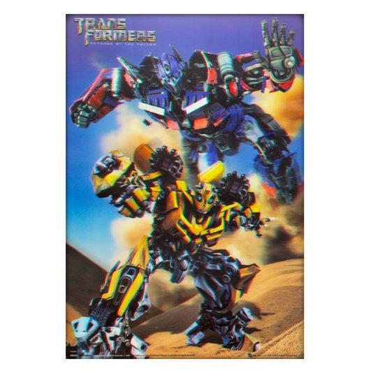 Poster 3D Filme Transformers Vingança dos Derrotados 50x70cm com/sem Moldura