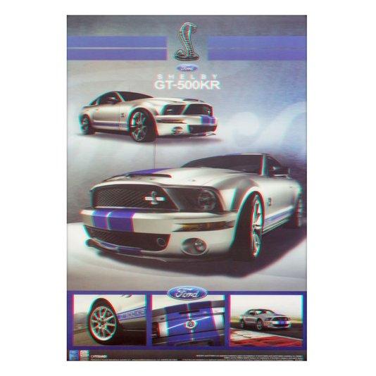 Poster 3D Ford Shelby GT-500KR 50x70cm com/sem Moldura