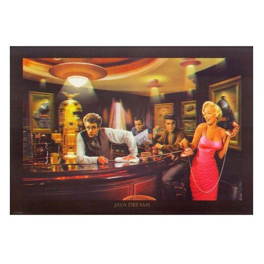 Poster 3D Java Dreams - Café dos Sonhos 70x50cm com/sem Moldura