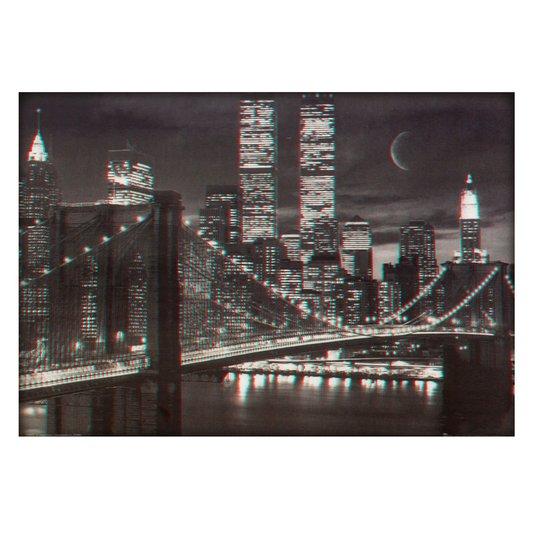 Poster 3d Ponte de Manhattan de Nova York 70x50cm Com/sem Moldura