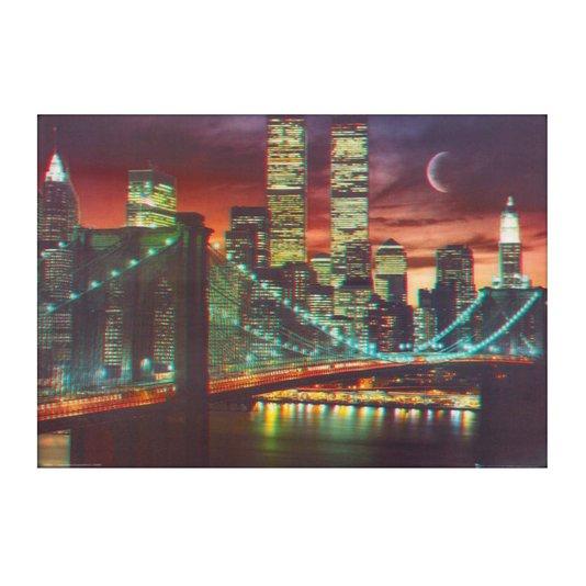 Poster 3D Ponte do Brooklyn em Nova York 70x50cm com/sem Moldura