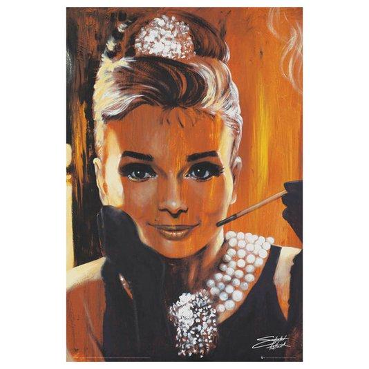 Poster Audrey Hepburn Arte de Stephen Fishwick 60x90cm