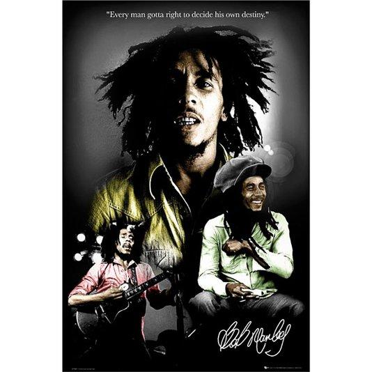 Poster Bob Marley Destino 60x90cm com/sem Moldura