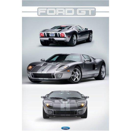 Poster Carro Esportivo Ford GT 60x90cm com/sem Moldura