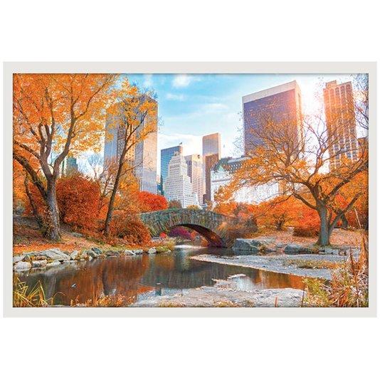 Poster com Moldura Branca Central Parque Nova York 90x60cm