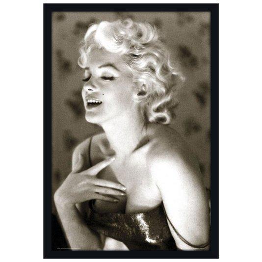 Poster com Moldura Diva Marilyn Monroe em Preto e Branco s/ Vidro 60x90cm