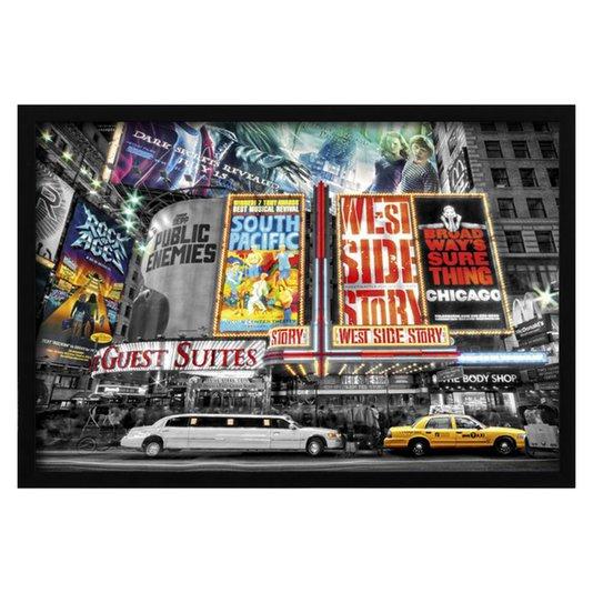 Poster com Moldura New York Theatre s/ Vidro 94x64cm