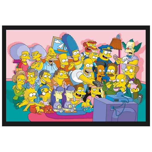 Poster com Moldura Os Simpsons Todo o Elenco 94x64cm