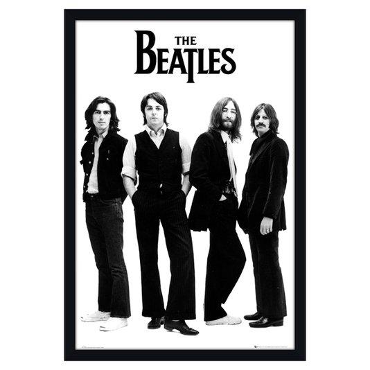 Poster com Moldura Quadro Decorativo Álbum Banda The Beatles 60x90cm
