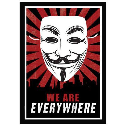 Poster com Moldura Quadro Decorativo Anonymous 60x90cm