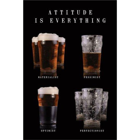 Poster Copos de Cervejas Atitude é Tudo 60x90cm com/sem Moldura