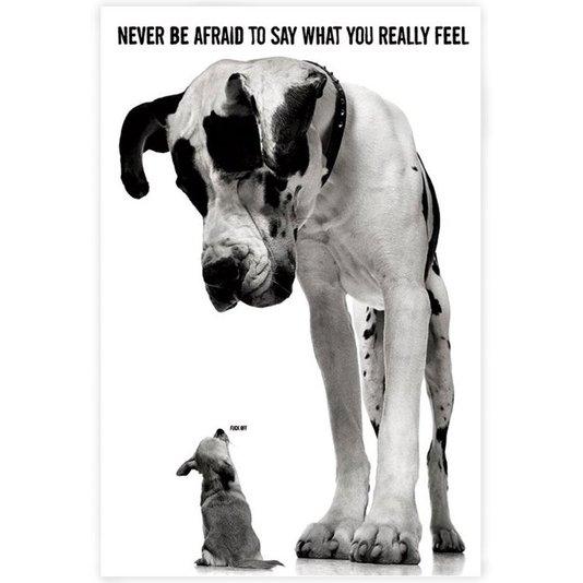 Poster Dogs Pequeno e Grande 60x90cm com/sem Moldura