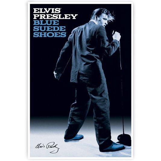 Poster Elvis Presley Blue Suede Shoes 60x90cm com/sem Moldura