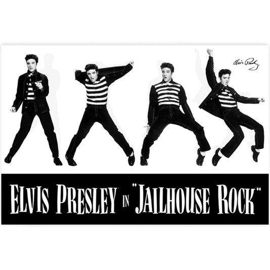 Poster Elvis Presley Jailhouse Rock 90x60cm com/sem Moldura